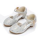 זול נעלי ילדות-בנות נעליים נצנצים אביב נוחות / נעליים לילדת הפרחים עקבים ריינסטון / אבזם ל זהב / כסף / ורוד
