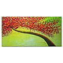 baratos Adesivos de Parede-Pintura a Óleo Pintados à mão - Abstrato Floral / Botânico Contemprâneo Modern Tela de pintura