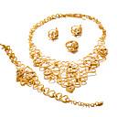 tanie Biżuteria religijna-Damskie Biżuteria Ustaw - Pozłacany Duże, damska, Moda Zawierać Złoty Na Ślub Impreza