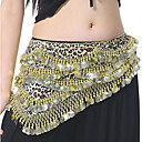 cheap Belly Dance Wear-Belly Dance Ordinary Women's Training Performance Polyester Metal Leopard Belt Paillette Leisure Hip Scarf