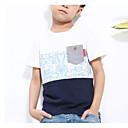 tanie Topy dla chłopców-Dzieci Dla chłopców Prosty Kolorowy blok Krótki rękaw Bawełna T-shirt