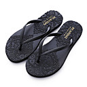 cheap Historical & Vintage Costumes-Women's Shoes Synthetic Summer Comfort Slippers & Flip-Flops Flat Heel Black / Gray / Yellow