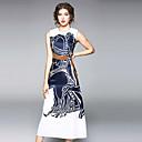 זול סטים של ביגוד לבנות-בגדי ריקוד נשים מכנסיים - פרחוני דפוס פול / ליציאה