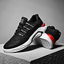 זול סניקרס לגברים-בגדי ריקוד גברים דמוי עור / טול סתיו / חורף נוחות נעלי ספורט הליכה שחור / אפור / אדום