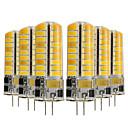 billiga LED-bi-pinlampor-YWXLIGHT® 6pcs 5W 400-500lm G4 LED-lampor med G-sockel T 72 LED-pärlor SMD 5730 Dekorativ Varmvit Kallvit 12-24V
