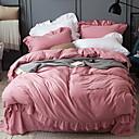 זול שמלות לבנות-סטי שמיכה אחיד פולי / כותנה / 100% כותנה הדפסה תגובתית 4 חלקים