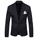 cheap Men's Accessories-Men's Active Plus Size Slim Blazer-Striped