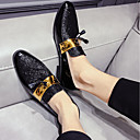 זול נעלי בד ומוקסינים לגברים-בגדי ריקוד גברים נעלי נוחות PU אביב / סתיו בריטי נעלי אוקספורד שחור