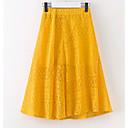 זול שמלות לבנות-חצאית קיץ יומי אחיד בנות תלתן צהוב