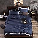 povoljno Čvrsta poplune-Poplun Cover Sets Jednobojni Poly / Cotton / 100% pamuk Yarn Dyed 4 komada