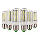 olcso LED kukorica alakú izzók-YWXLIGHT® 6db 7 W 600-700 lm E14 E26/E27 LED kukorica izzók 72 led SMD 5730 Dekoratív Meleg fehér Hideg fehér AC 220-240V