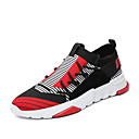 tanie Adidasy męskie-Męskie Komfortowe buty Dzianina Wiosna / Lato Adidasy Czarny biały / Czarny czerwony