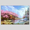 ieftine Picturi în Ulei-Hang-pictate pictură în ulei Pictat manual - Peisaj Modern pânză