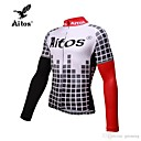 abordables Maillots Ciclismo-Jaggad Hombre Manga Larga Maillot de Ciclismo - Negro / Rojo Bicicleta Camiseta / Maillot, Secado rápido Licra / Alta elasticidad