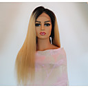 cheap Favor Holders-Virgin Human Hair Lace Front Wig Brazilian Hair Straight Wig 150% Density with Baby Hair Natural Hairline Women's Long Human Hair Lace Wig PERFE
