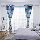 cheap Blackout Curtains-Blackout Curtains Drapes Bedroom Damask Graphic Prints Polyester Blend Printed