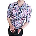tanie Banki energetyczne-Koszula Męskie Moda miejska Klubowa Szczupła - Kwiaty / Krótki rękaw