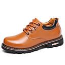זול נעלי אוקספורד לגברים-בגדי ריקוד גברים עור נאפה Leather אביב / סתיו נוחות נעלי אוקספורד שחור / צהוב