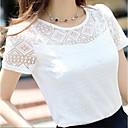 hesapli Moda Kolyeler-Kadın's Dantel, Solid Sevimli Sokak Şıklığı Tişört