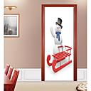 tanie Naklejki ścienne-Naklejki na drzwi - Naklejki ścienne 3D / Świąteczne naklejki ścienne Kształty / Dekoracje świąteczne Sypialnia / Gabinet / Pokój do nauki
