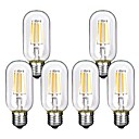 billiga LED-koltrådslampor-6pcs 4 W LED-glödlampor 360 lm E26 / E27 T45 4 LED-pärlor COB Dekorativ Varmvit Kallvit 220-240 V / RoHs