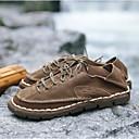 זול נעלי ספורט לגברים-בגדי ריקוד גברים עור נובוק אביב / קיץ נוחות נעלי סירה כחול / חום כהה