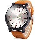 preiswerte Kleideruhr-JUBAOLI Herrn Armbanduhren für den Alltag Quartz Cool Großes Ziffernblatt Leder Band Analog Braun - Orange Blau