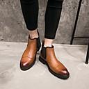 tanie Kozaki męskie-Męskie Komfortowe buty Skóra bydlęca Zima Oksfordki Czarny / brązowy