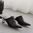 olcso Női papucsok és klumpák-Női Cipő Szintetikus Mikrorost PU Tavasz / Ősz Kényelmes Klumpák és papucsok Vaskosabb sarok Fekete / Világosbarna