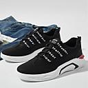 זול נעלי ספורט לגברים-בגדי ריקוד גברים אור סוליות טול / PU אביב / קיץ נוחות נעלי אתלטיקה ריצה שחור / אפור / אדום