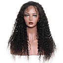 cheap Earrings-Unprocessed Human Hair Lace Front Wig Brazilian Hair Curly Wig With Baby Hair 130% Natural Hairline Women's Short / Long / Mid Length Human Hair Lace Wig