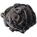 tanie Akcesoria do włosów-Męskie Włosy naturalne Tupeciki Pełna poronka Nowoczesne