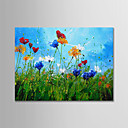 cheap Abstract Paintings-Oil Painting Hand Painted - Abstract Landscape Modern Canvas