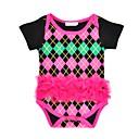 זול חלקים תחתונים לתינוקות בנים-בנות כותנה מכנסיים - גיאומטרי תחרה פוקסיה 80 / חמוד / חגים
