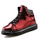 tanie Adidasy męskie-Męskie Komfortowe buty Skóra patentowa Wiosna / Jesień Buty do lekkiej atletyki Spacery Czarny / Srebrny / Czerwony
