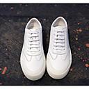 tanie Męskie mokasyny-Męskie Komfortowe buty Skóra nappa / Skóra bydlęca Wiosna / Jesień Adidasy Biały / Czarny