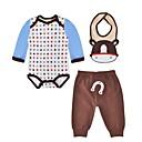 זול אוברולים טריים לתינוקות-בנים פעיל כותנה מכנסיים - מנוקד תבנית בעלי חיים חום