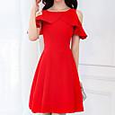 tanie Spinki i broszki-Damskie Bawełna Szczupła Spodnie - Solidne kolory Czerwony, Podstawowy Wysoka talia Czarny