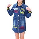tanie Zestawy ubrań dla dziewczynek-Dzieci Dla dziewczynek Prosty / Casual Codzienny Solidne kolory / Nadruk Długi rękaw Bawełna / Poliester Trenczy Niebieski 150