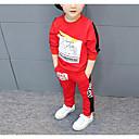 tanie Topy dla chłopców-Brzdąc Dla chłopców Nadruk Długi rękaw Bawełna Komplet odzieży