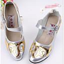 זול סניקרס לריקוד-בגדי ריקוד נשים נעליים מודרניות נצנצים / PU עקבים עקב עבה מותאם אישית נעלי ריקוד זהב / כסף / אימון