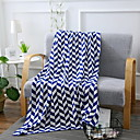 cheap Blankets & Throws-Knitted, Reactive Print Geometric Cotton Blankets