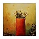 tanie Obrazy olejne-Hang-Malowane obraz olejny Ręcznie malowane - Martwa natura / Kwiatowy / Roślinny Nowoczesne / Nowoczesny Płótno / Rozciągnięte płótno