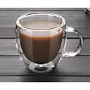 tanie Kubki i filiżanki-Naczynia do picia Szkło o wysokiej zawartości boru Szkło / Kubki do kawy Ciepło-izolacyjne / Projekt ergonomiczny 1 pcs