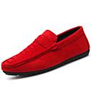 baratos Sapatos Esportivos Masculinos-Homens Com Laço Couro Ecológico Primavera / Outono Conforto Tênis Caminhada Preto / Vermelho
