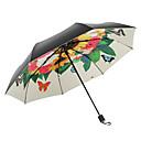 זול פרח מלאכותי-בד בגדי ריקוד נשים סאני וגשום / עמיד לרוח / חדש מטריה מתקפלת
