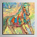 abordables Adhesivos de Pared-Pintura al óleo pintada a colgar Pintada a mano - Abstracto Caricatura Modern Lona