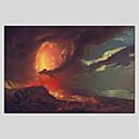 tanie Obrazy olejne-Hang-Malowane obraz olejny Ręcznie malowane - Abstrakcja Nowoczesny Brezentowy / Rozciągnięte płótno