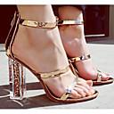 preiswerte Schuhe für Zeitgenössischen Tanz-Damen Schuhe PU Frühling / Sommer Komfort / Pumps Sandalen Blockabsatz Gold