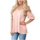 preiswerte Moderinge-Damen Solide - Aktiv / Grundlegend Festtage Baumwolle T-shirt Lose Ausgehöhlt / Frühling / Sommer